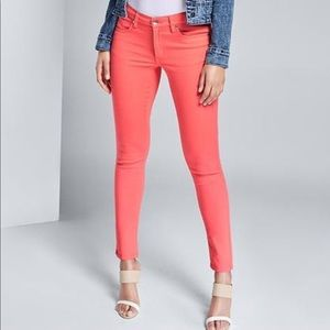 Dark coral peach orange pink jeans pants nwt new